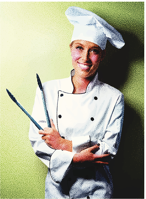 Friendly Chef Drawing by GeorgePeters