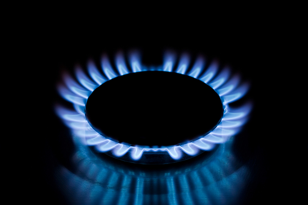 Gas hob Photograph by Image Source