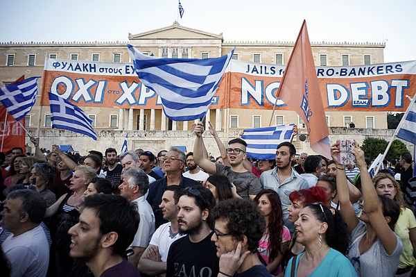 Greece On The Brink Of Financial Collapse As Banks Close For At Least A Week Photograph by Milos Bicanski