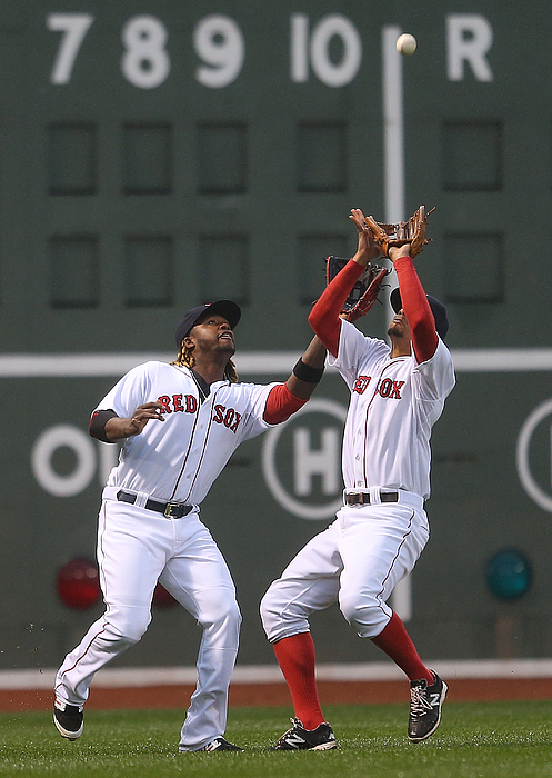 Hanley Ramirez and Xander Bogaerts Photograph by Jim Rogash