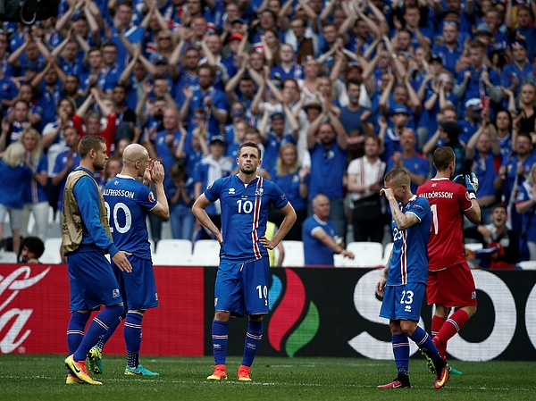 Iceland Vs Hungary - Euro 2016 Photograph by Anadolu Agency