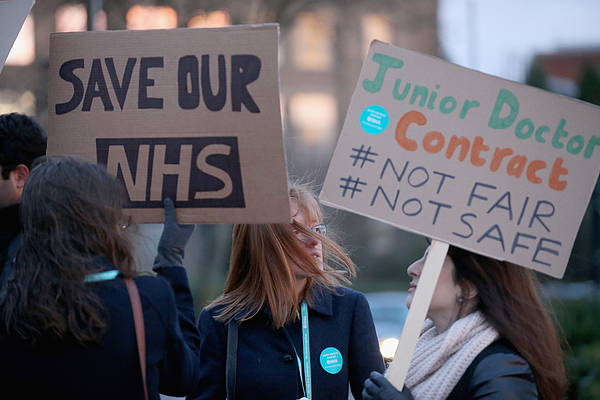 Junior Doctors Stage 24 Hour Strike Across NHS In England Photograph by Christopher Furlong