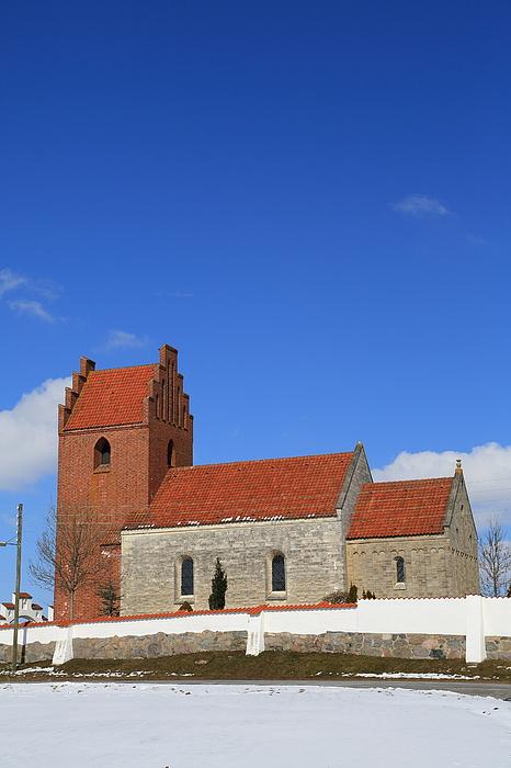Kildebroende Landsby Kirke parish church Photograph by Pejft
