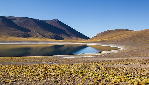 Laguna Miñiques near San Pedro de Atacama, Chile Photograph by Maximilian Müller
