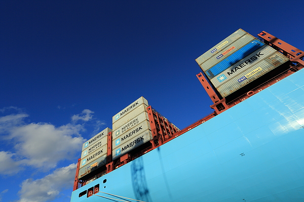 Maersk Line Triple-e Container Ship Majestic Mærsk Photograph by Pejft