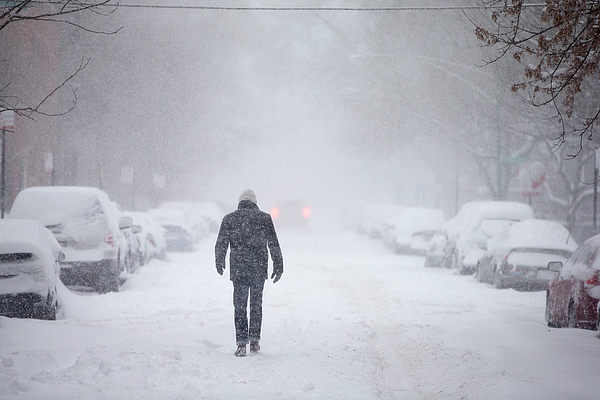 Major Winter Storm Pounds Chicago Area Photograph by Scott Olson