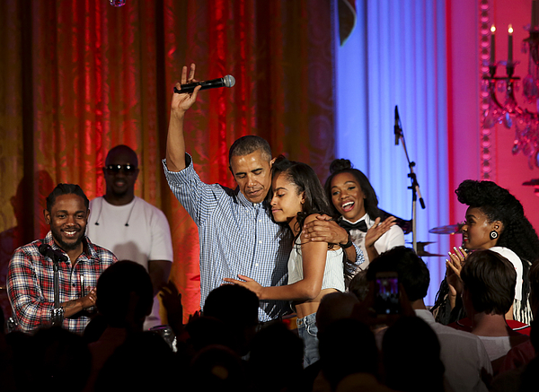 Malia Obama Celebrates 18th Birthday At White House July Fourth Party Photograph by Pool
