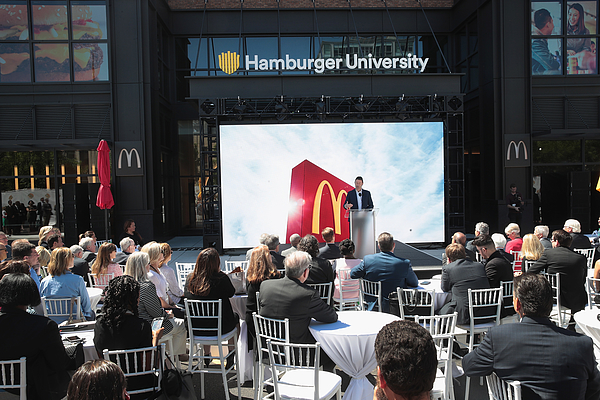 Mcdonalds Officially Unveils Its New Headquarters In Chicago Photograph by Scott Olson
