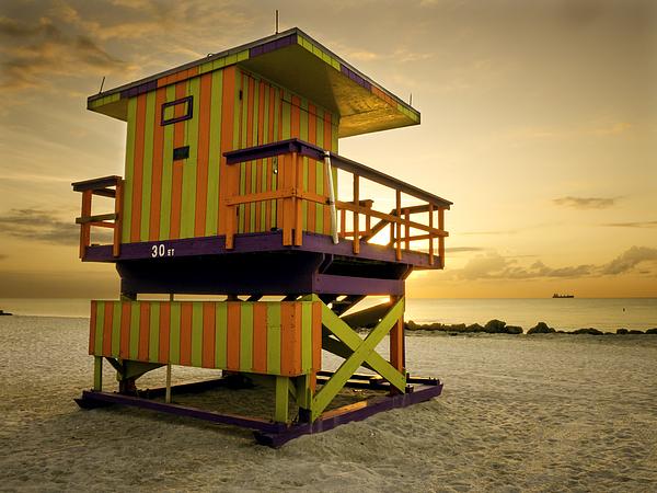 Miami Beach Lifeguard Station Photograph by Bernd Schunack