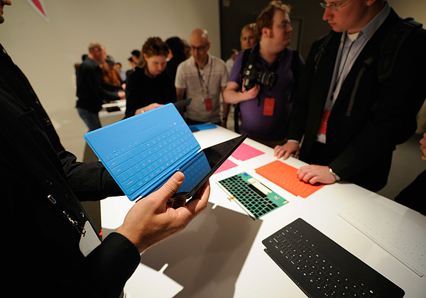 Microsoft Announces Surface Tablet In Los Angeles Photograph by Kevork Djansezian