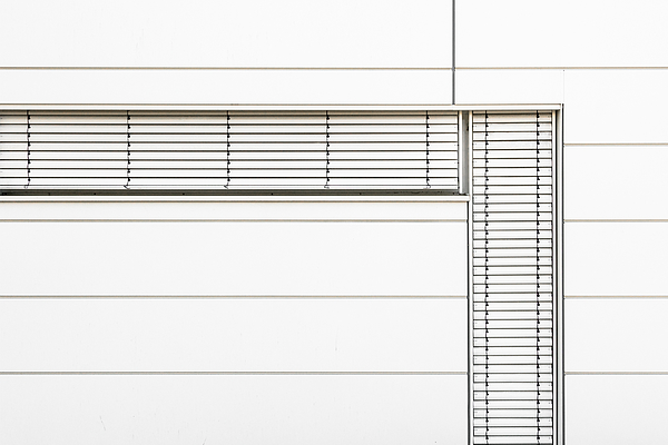 Minimalistic Office Facade in White Photograph by Christian Beirle González