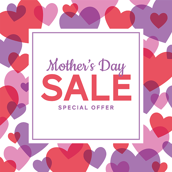 Mothers Day Sale special offer template for business, promotion and advertising. Drawing by Discan