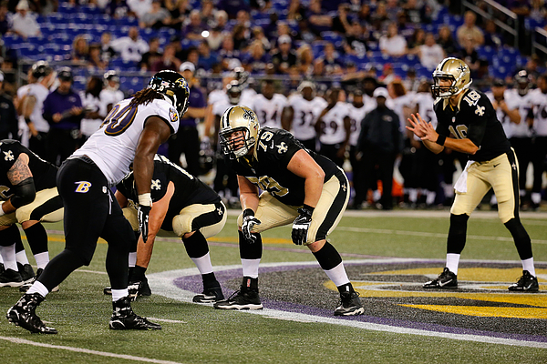 New Orleans Saints v Baltimore Ravens Photograph by Rob Carr
