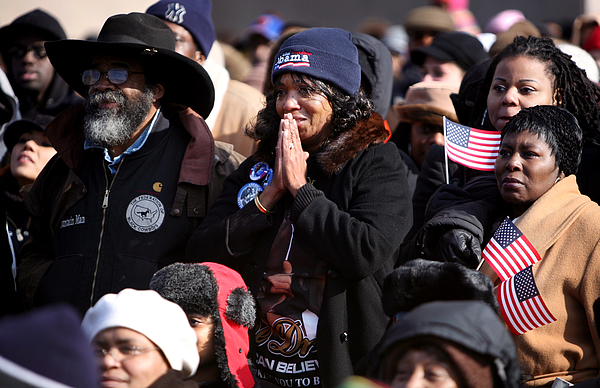 New Yorkers Observe The Inauguration Of Barack Obama Photograph by Rick Gershon