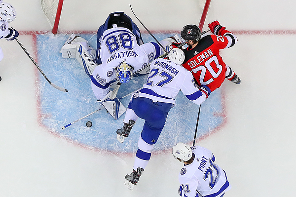 NHL: APR 18 Stanley Cup Playoffs First Round Game 4 - Lightning at Devils Photograph by Icon Sportswire