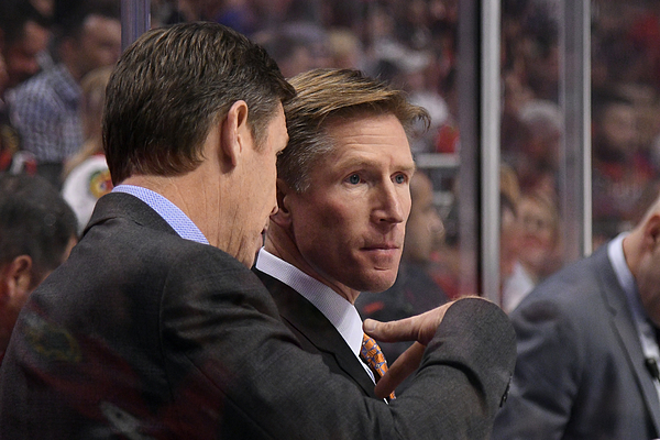 NHL: OCT 18 Flyers at Blackhawks Photograph by Icon Sportswire