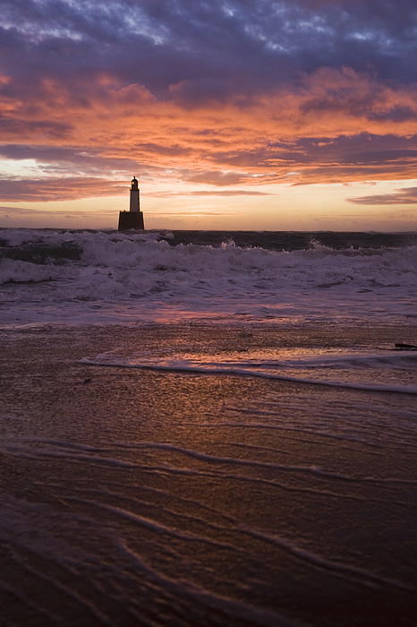 North Sea Lighthouse Before Dawn Photograph by Theasis