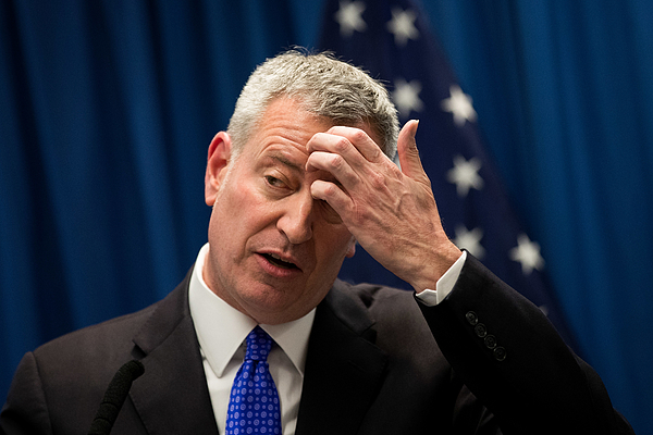 NYC Mayor De Blasio Delivers Speech On Combatting Homelessness Photograph by Drew Angerer