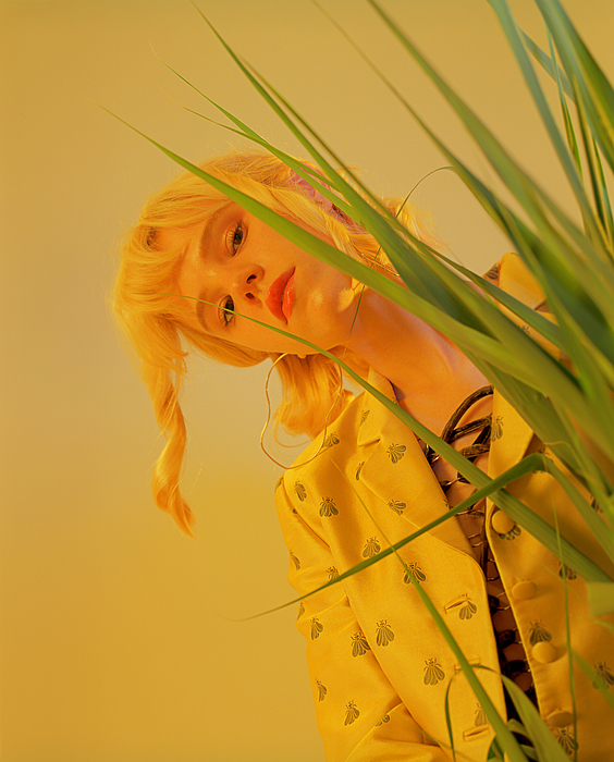 Portrait of young beautiful woman in studio Photograph by Andriy Onufriyenko