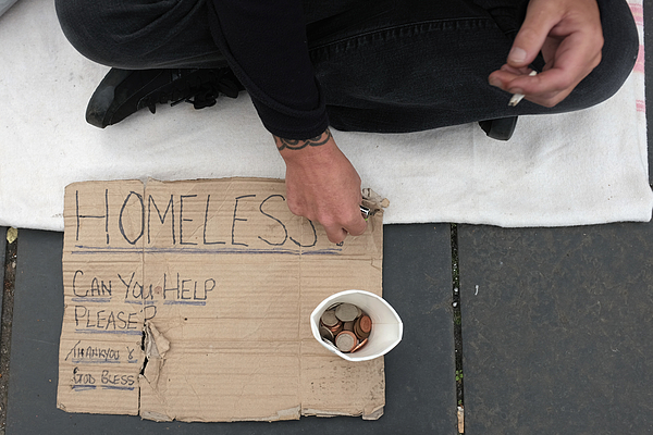 Poverty In The UK 2015 Photograph by Jeff J Mitchell