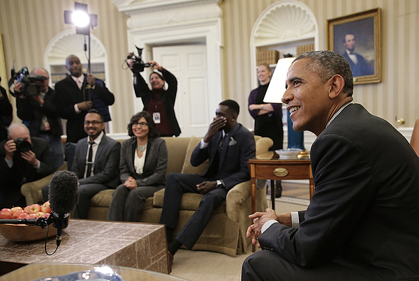 President Obama Meets Beneficiaries Of The Deferred Action For Childhood Arrivals Policy Photograph by Win McNamee