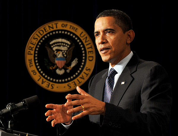 President Obama Speaks At The Fiscal Responsibility Summit Photograph by Pool