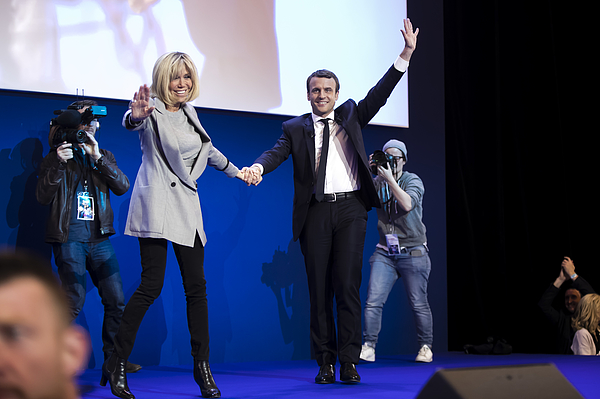 Presidential Candidate Emmanuel Macron Hosts A Meeting At Parc Des Expositions In Paris Photograph by Vincent Isore/IP3