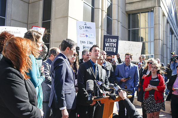 Pro-Life Activist David Daleiden Appears In Court Over Planned Parenthood Video Sting Photograph by Eric Kayne
