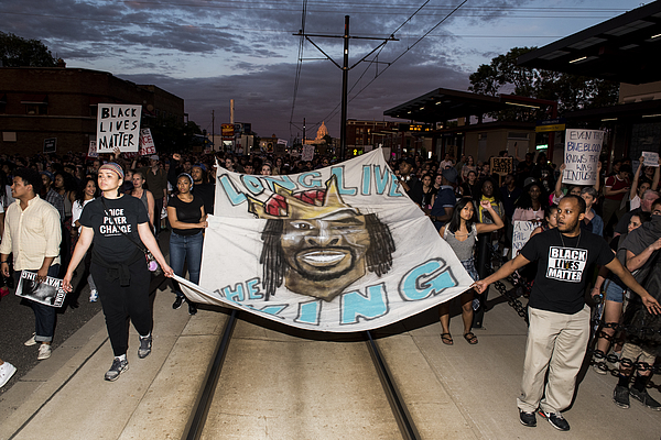 Protests Erupt After Minnesota Officer Acquitted In Killing Of Philando Castile Photograph by Stephen Maturen