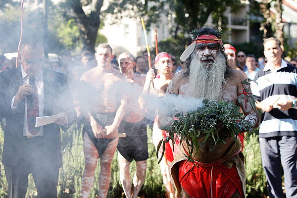 Redfern Aboriginal ANZAC Day Commemoration Photograph by Lisa Maree Williams