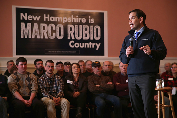 Republican Presidential Candidate Sen. Marco Rubio (R-FL) Campaigns In New Hampshire Photograph by Chip Somodevilla