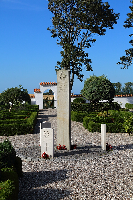 Royal Airforce RAF WWII monument at Odden Kirke cemetery Photograph by Pejft