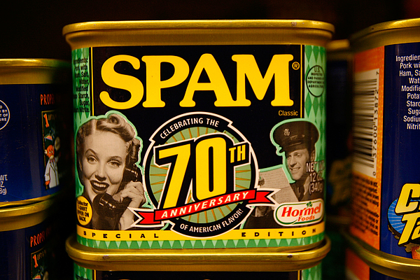 Sales Of Low Cost Canned Meat Spam On The Rise Amid Rising Food Cost Photograph by David McNew