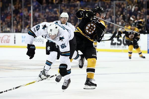 San Jose Sharks v Boston Bruins Photograph by Maddie Meyer