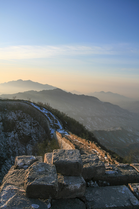 snow over the Great Wall Photograph by MOAimage