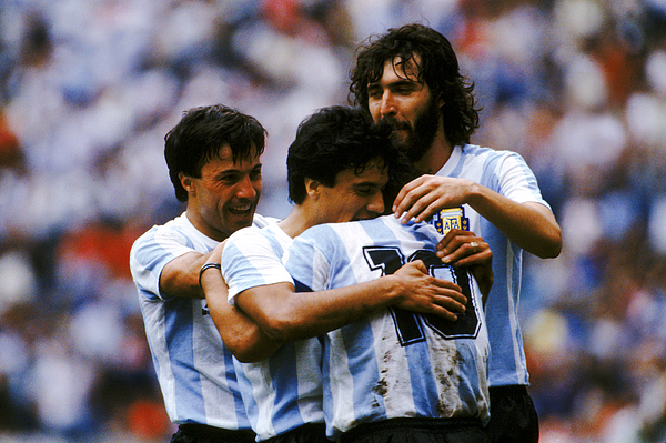 Soccer - World Cup Mexico 86 - Semi Final - Argentina v Belgium Photograph by Peter Robinson - EMPICS