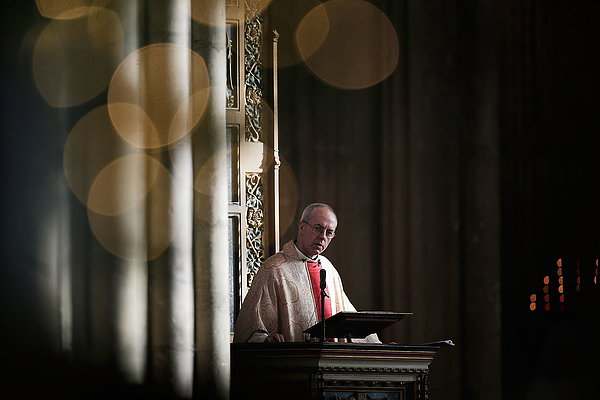 The Archbishop Of Canterbury Gives His First Christmas Day Sermon At Canterbury Cathedral Photograph by Matthew Lloyd