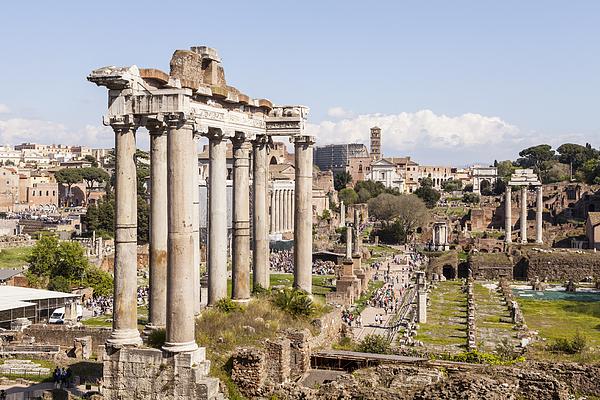 The Roman Forum or Foro Romano, Rome. Photograph by Julian Elliott Photography