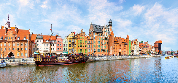 The Waterfront Area Of Gdansk Photograph by Syolacan