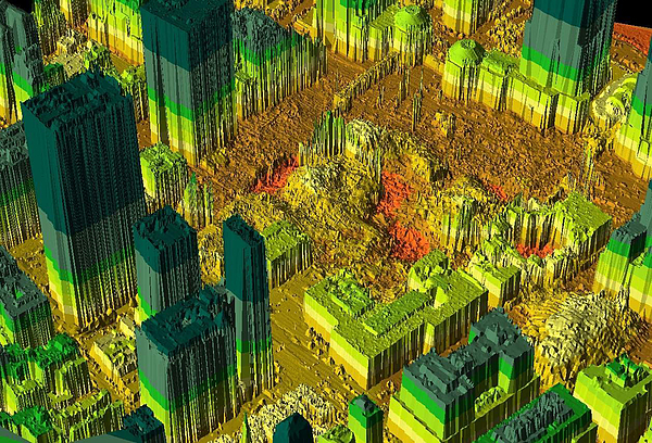 Thermal Imaging Of World Trade Center Site Photograph by Getty Images