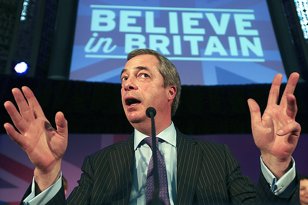 UKIP Leaders Give Immigration Election Speech Photograph by Carl Court