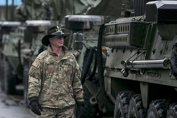 U.S. Troops Cross Czech Republic In Operation Atlantic Resolve Exercises Photograph by Matej Divizna