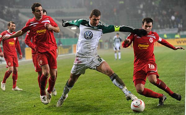VfL Wolfsburg v Energie Cottbus - DFB Cup Photograph by Stuart Franklin