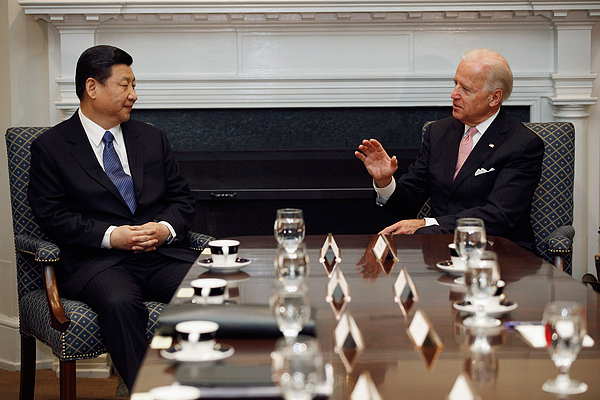 Vice President Biden Holds Bilateral Meeting With Chinese Vice President Xi Jinping Photograph by Chip Somodevilla