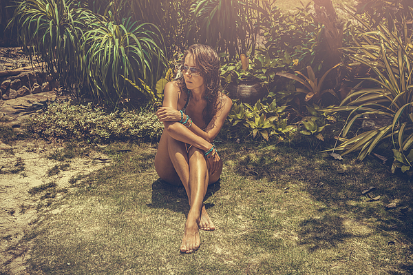 Woman In Tropical Photograph by VladGans