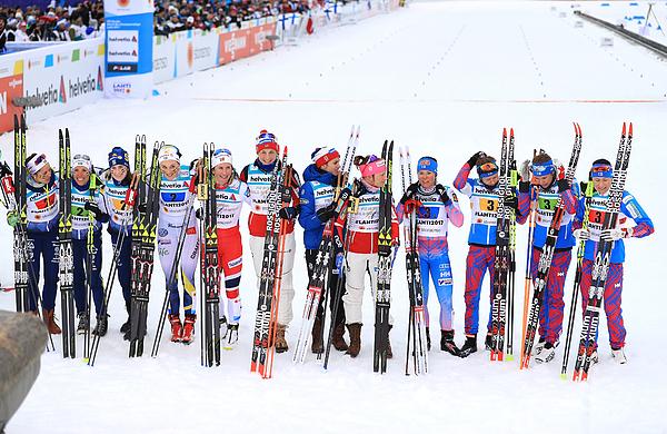 Womens Cross Country Relay - FIS Nordic World Ski Championships Photograph by Richard Heathcote