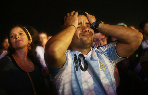World Cup Fans Gather To Watch Argentina v Germany In Final Match Photograph by Mario Tama