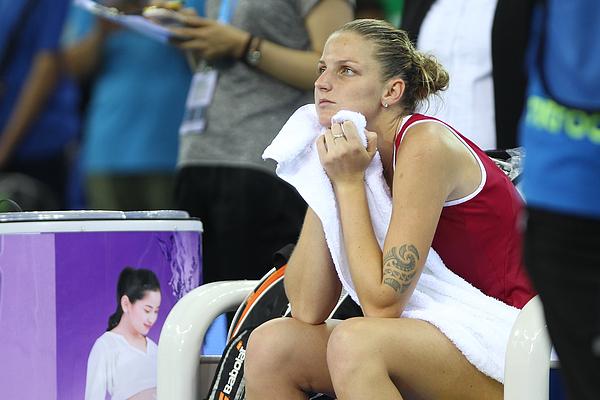 WTA Elite Trophy 2015 - Day 7 Photograph by Zhong Zhi