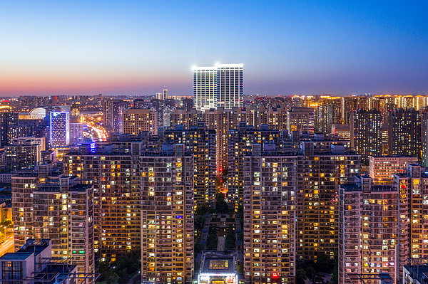 Aerial view of residential building Photograph by Liyao Xie