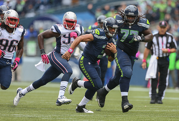 New England Patriots v Seattle Seahawks Photograph by Otto Greule Jr